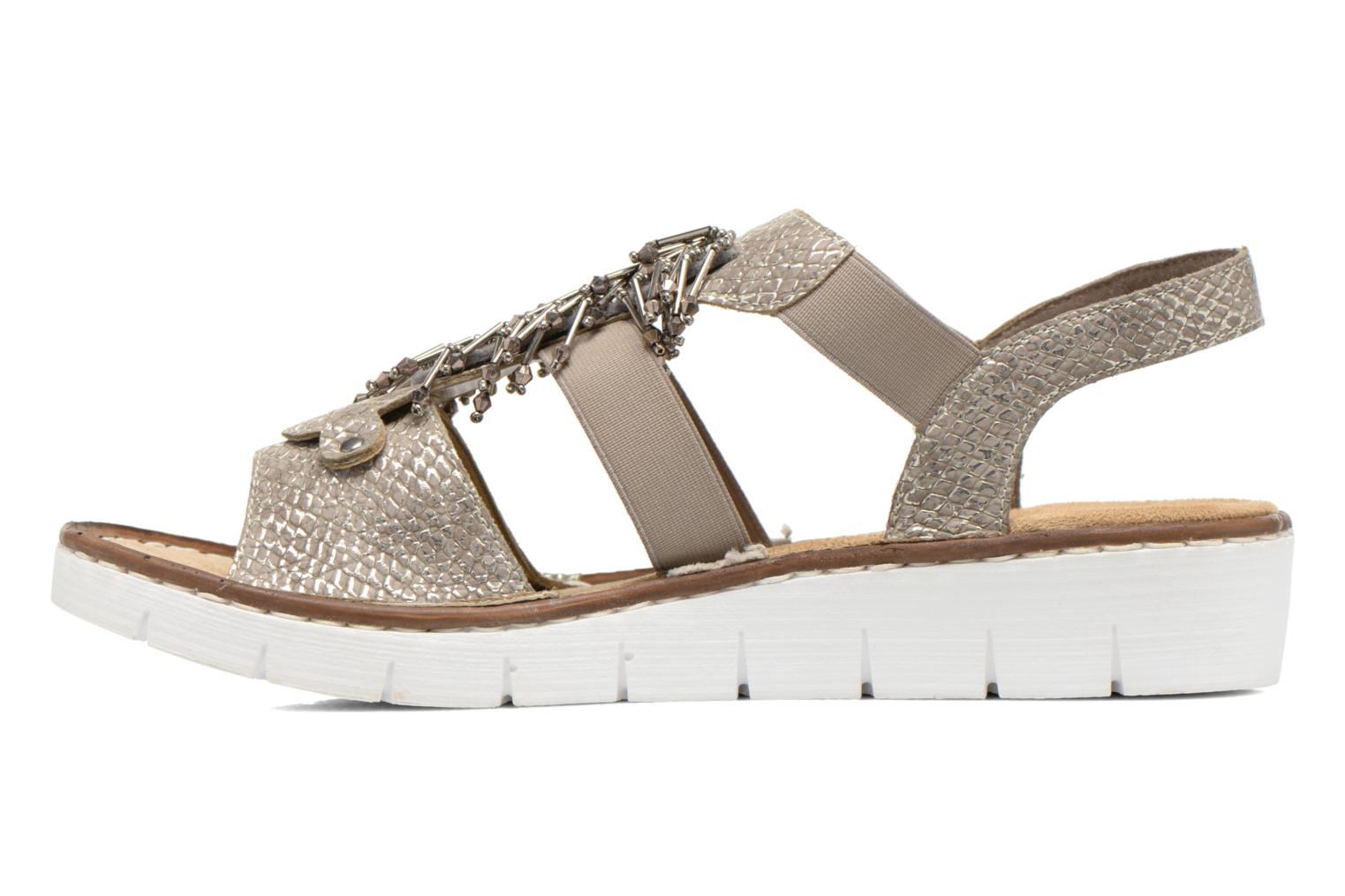 Sandals Rieker Chop 60062 Bronze and Gold front view