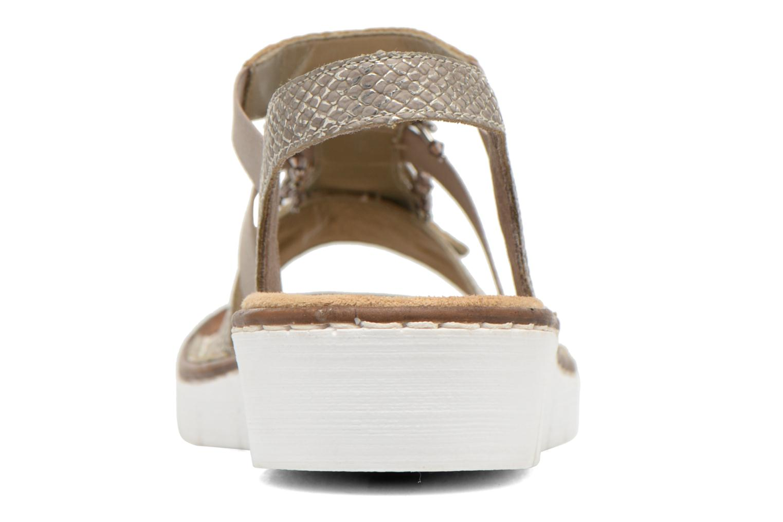 Sandales et nu-pieds Rieker Chop 60062 Or et bronze vue droite