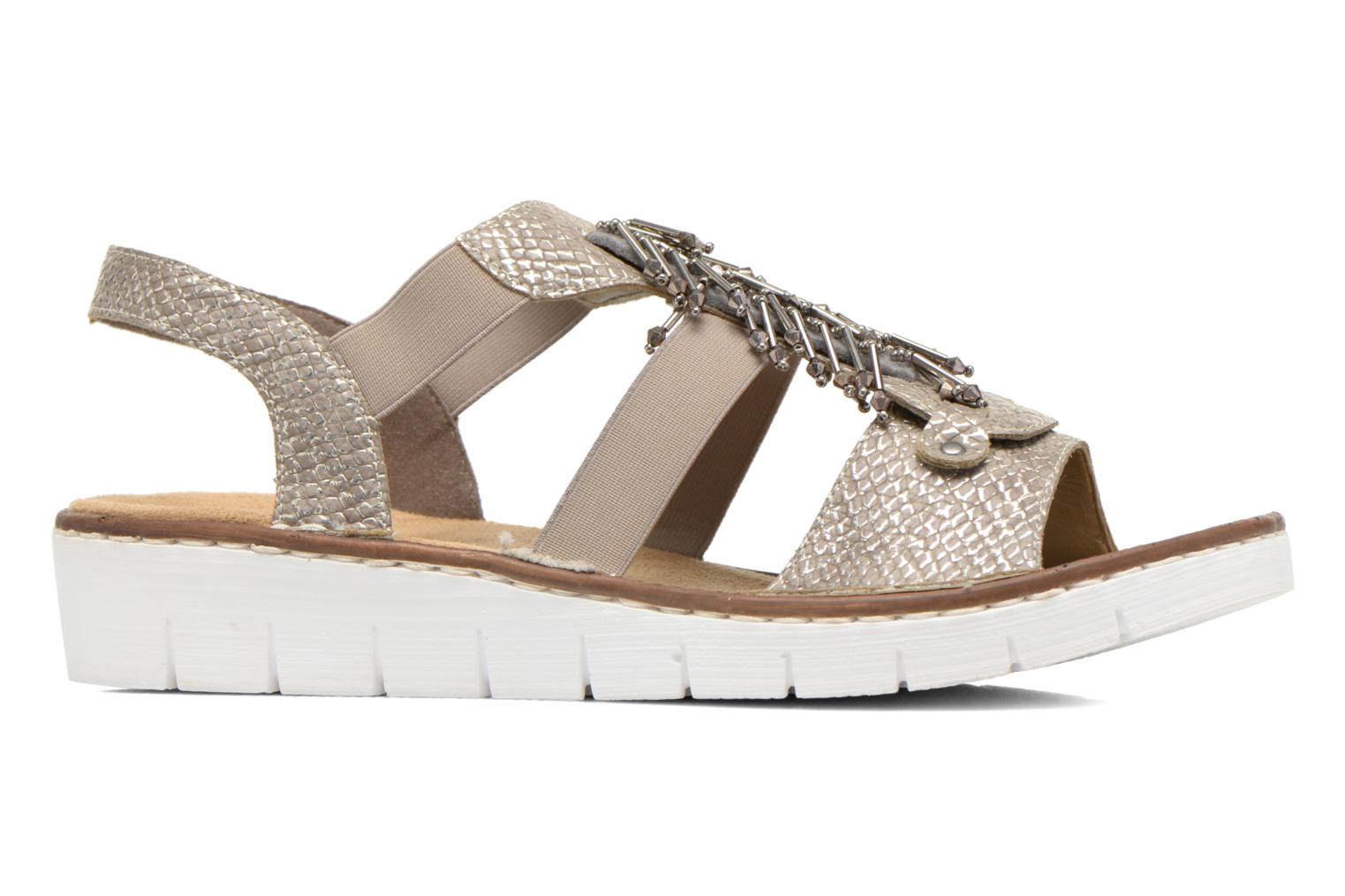 Sandals Rieker Chop 60062 Bronze and Gold back view