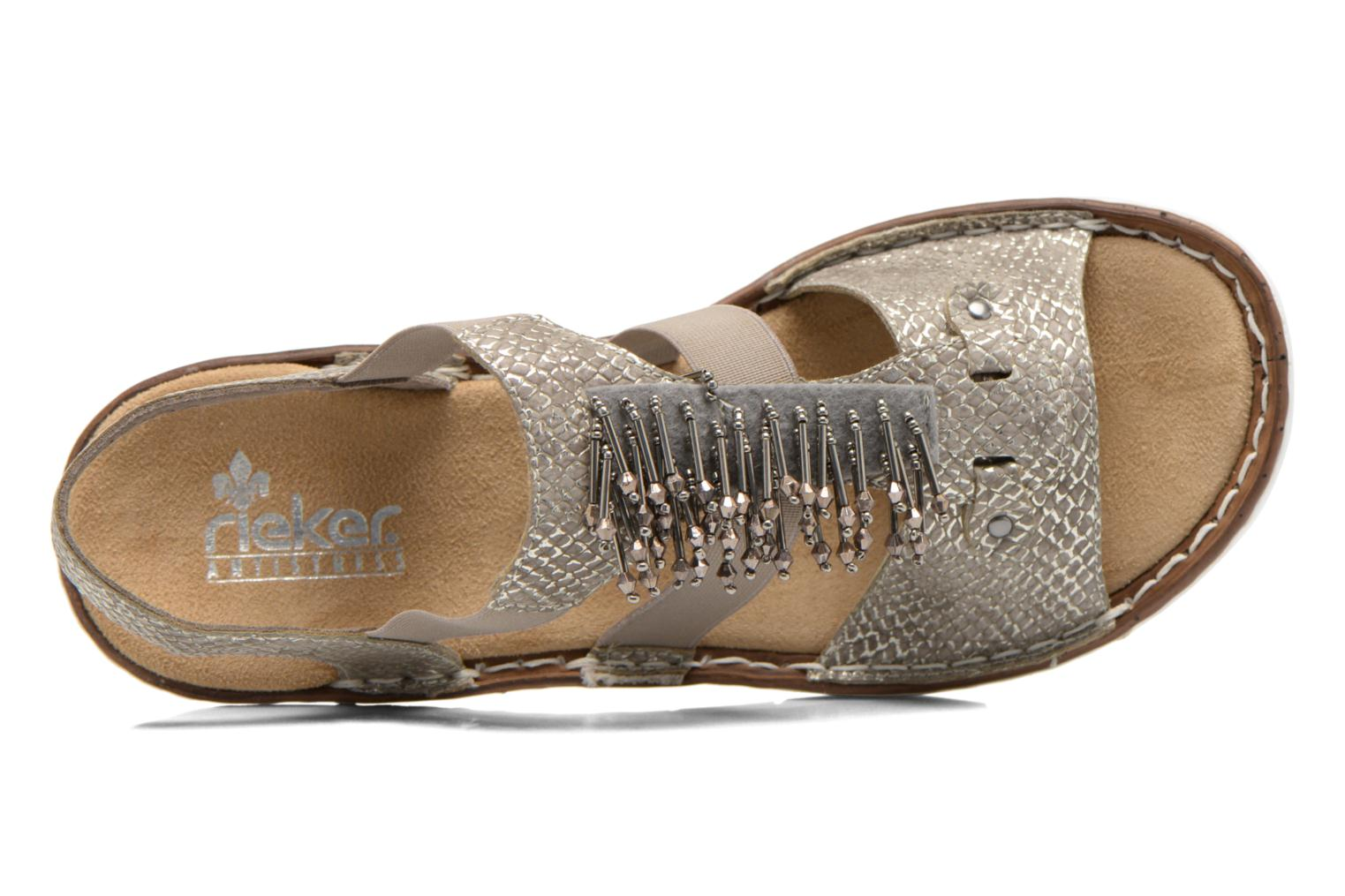 Sandals Rieker Chop 60062 Bronze and Gold view from the left