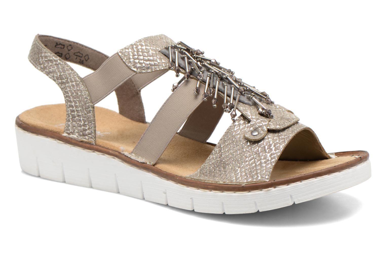 Sandales et nu-pieds Rieker Chop 60062 Or et bronze vue détail/paire