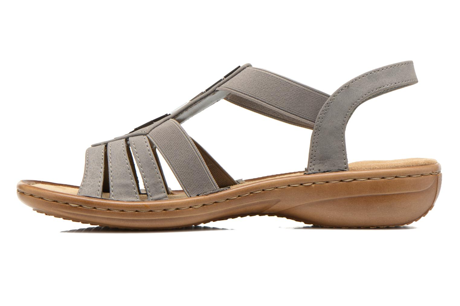 Sandals Rieker Amty 60800 Grey front view