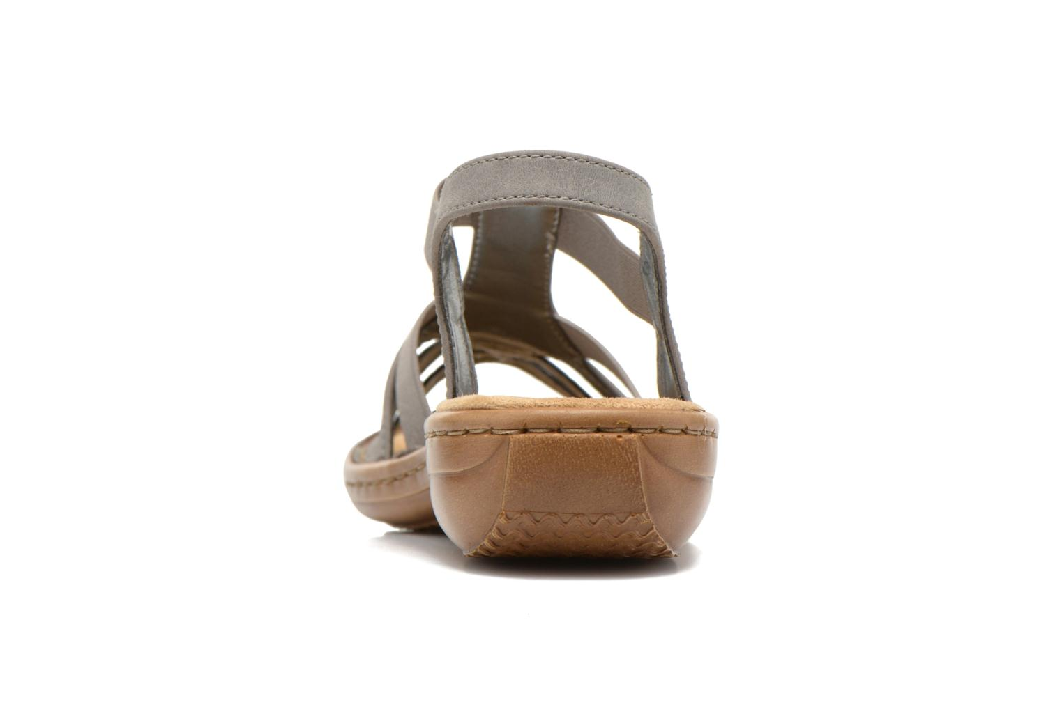 Sandals Rieker Amty 60800 Grey view from the right