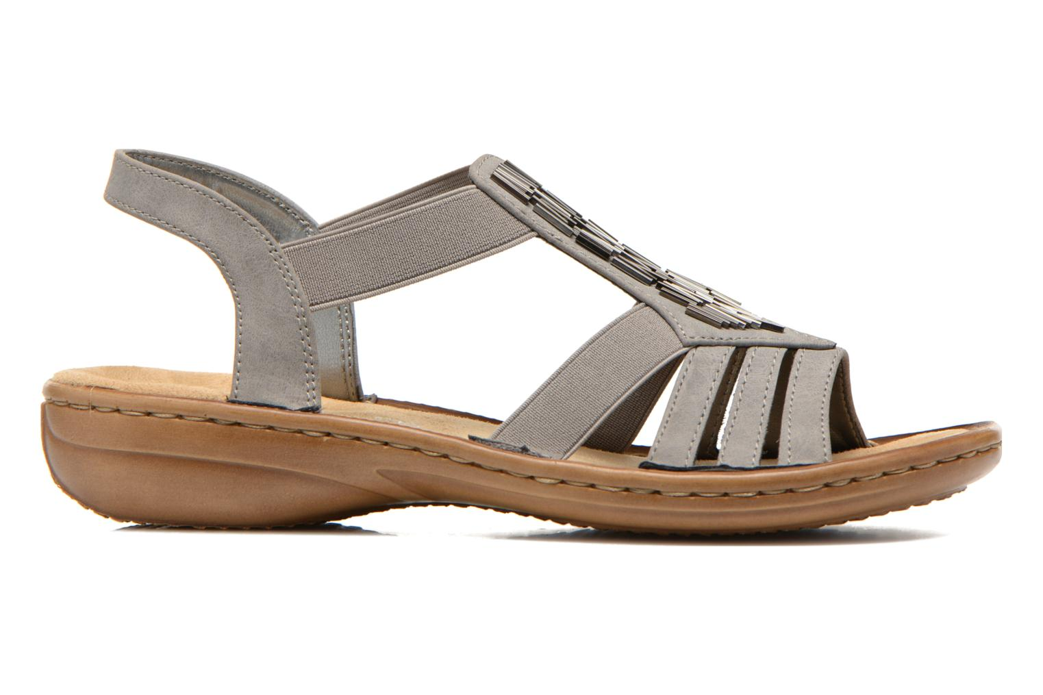 Sandals Rieker Amty 60800 Grey back view