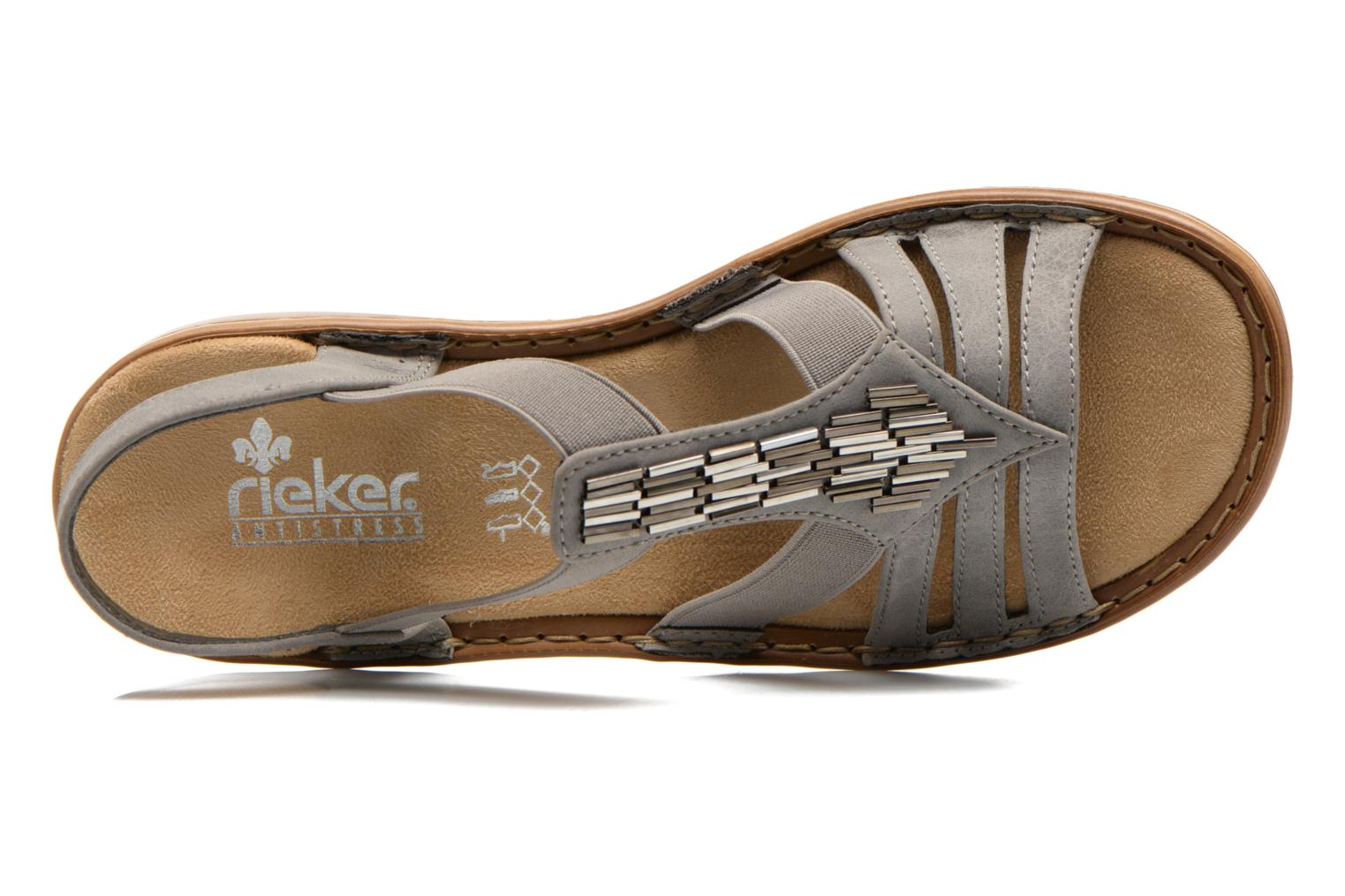 Sandals Rieker Amty 60800 Grey view from the left