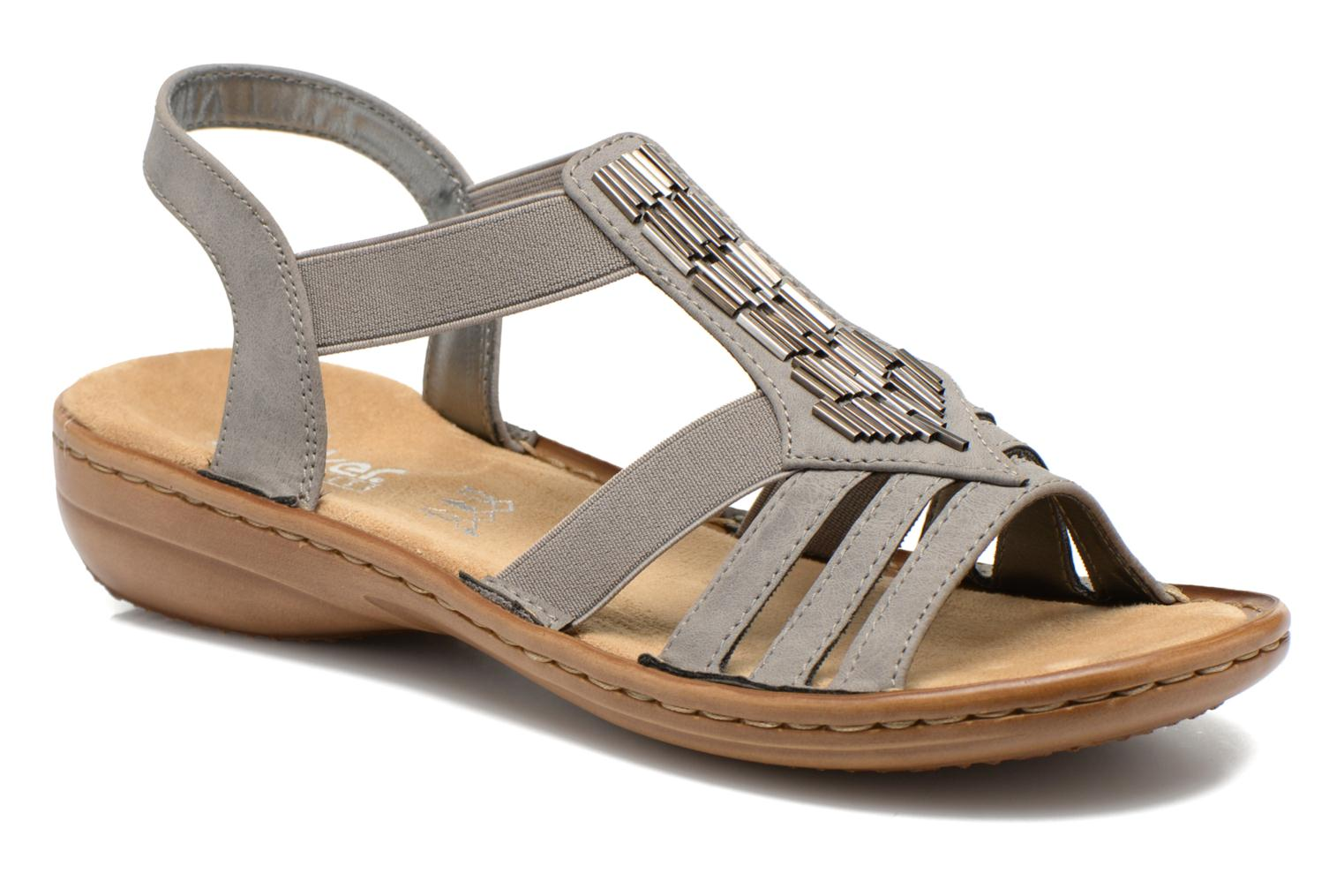 Sandals Rieker Amty 60800 Grey detailed view/ Pair view