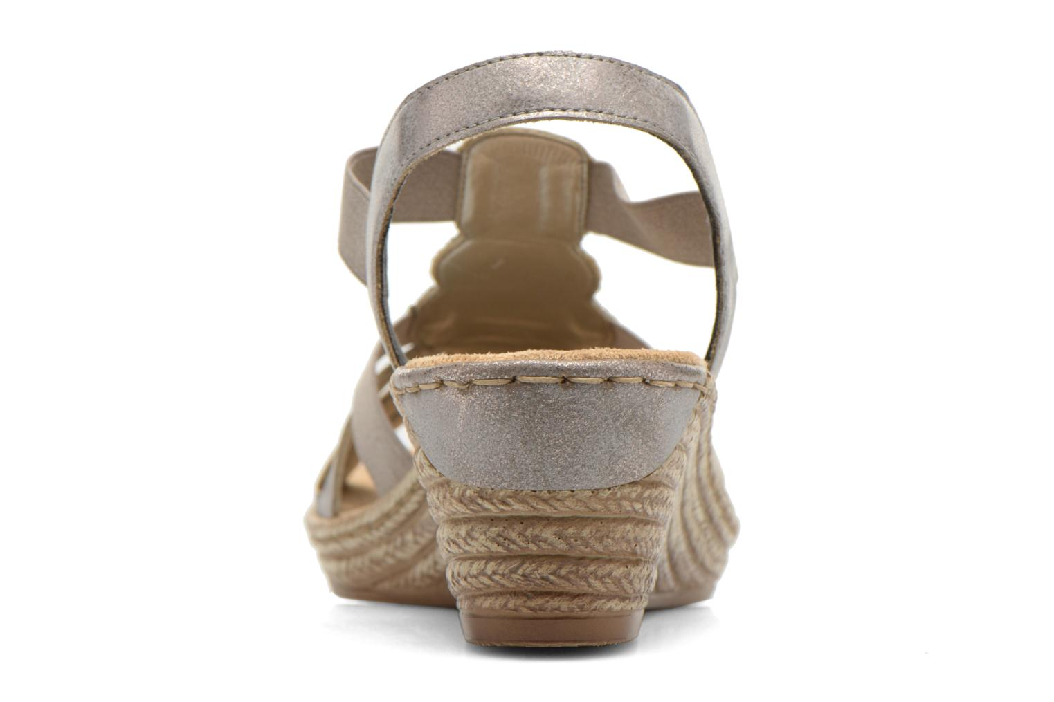 Sandals Rieker Bijou 62459 Grey view from the right