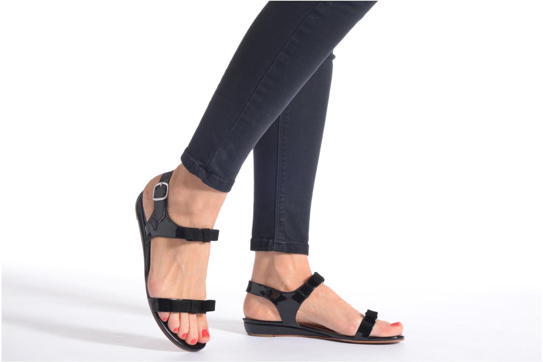 Sandales et nu-pieds Georgia Rose Anopa Noir vue bas / vue portée sac