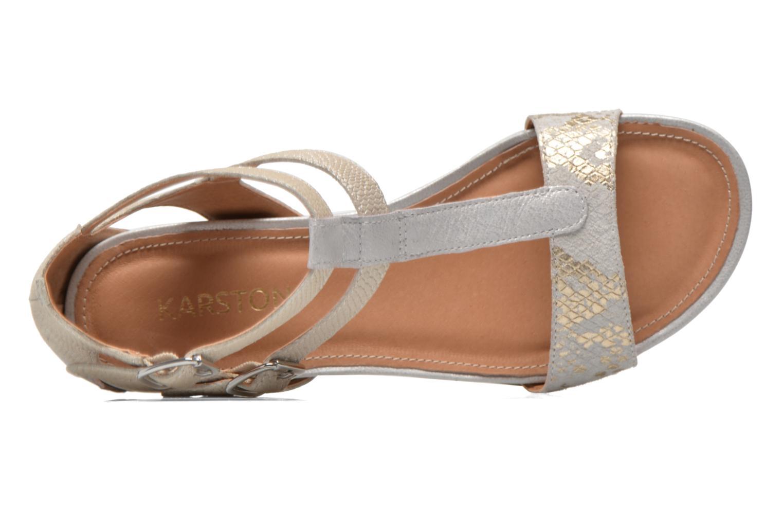 Sandales et nu-pieds Karston Kozin Beige vue gauche