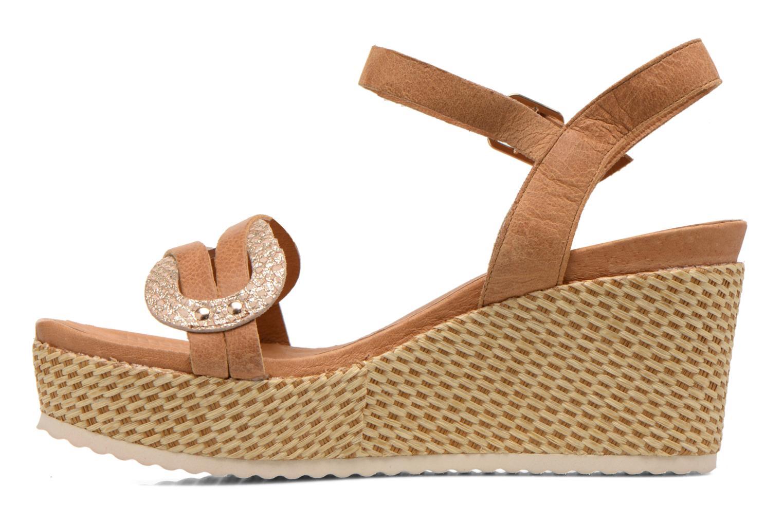 Sandales et nu-pieds Karston Latol Marron vue face