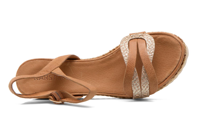 Sandales et nu-pieds Karston Latol Marron vue gauche