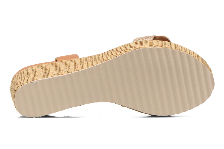 Sandales et nu-pieds Karston Latol Marron vue haut