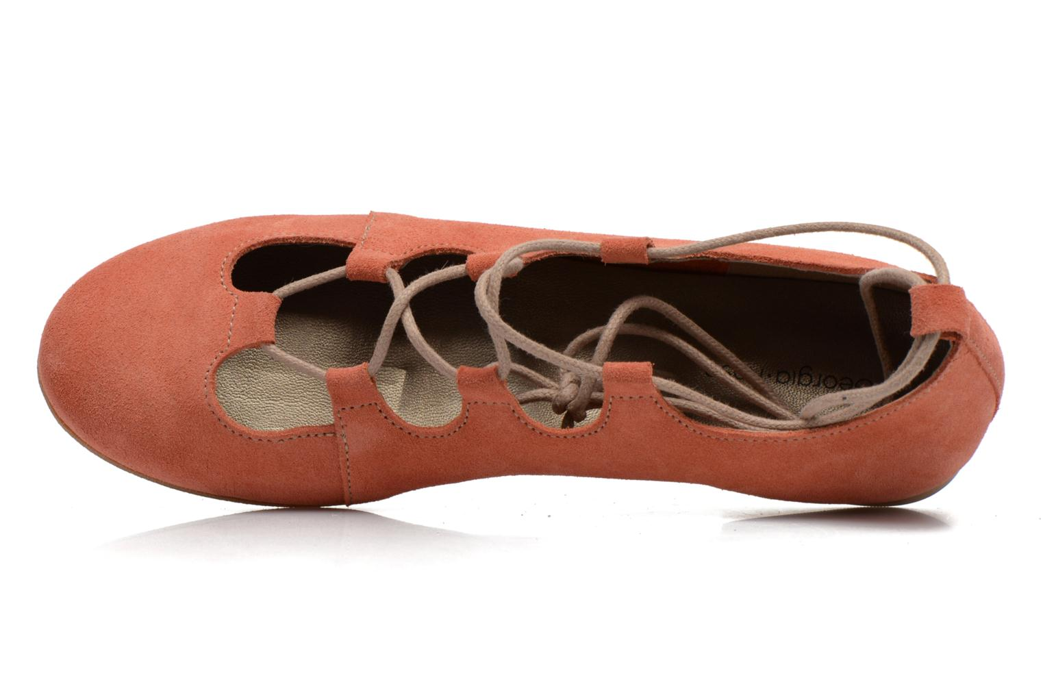 Ballet pumps Georgia Rose Calies Pink view from the left
