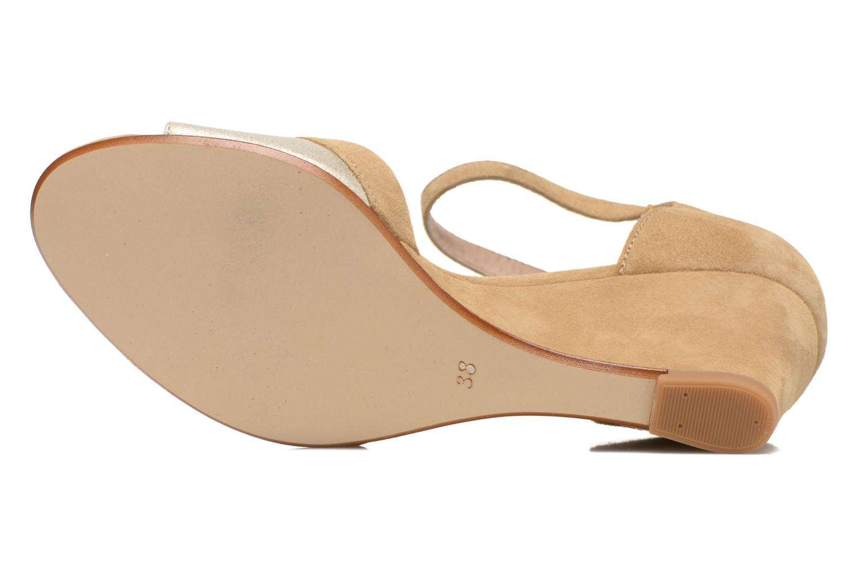 Sandales et nu-pieds Georgia Rose Lilika Beige vue haut