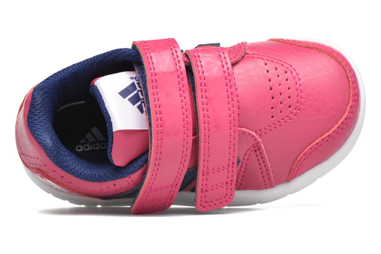 Sportschuhe Adidas Performance LK Trainer 7 CF I rosa ansicht von links