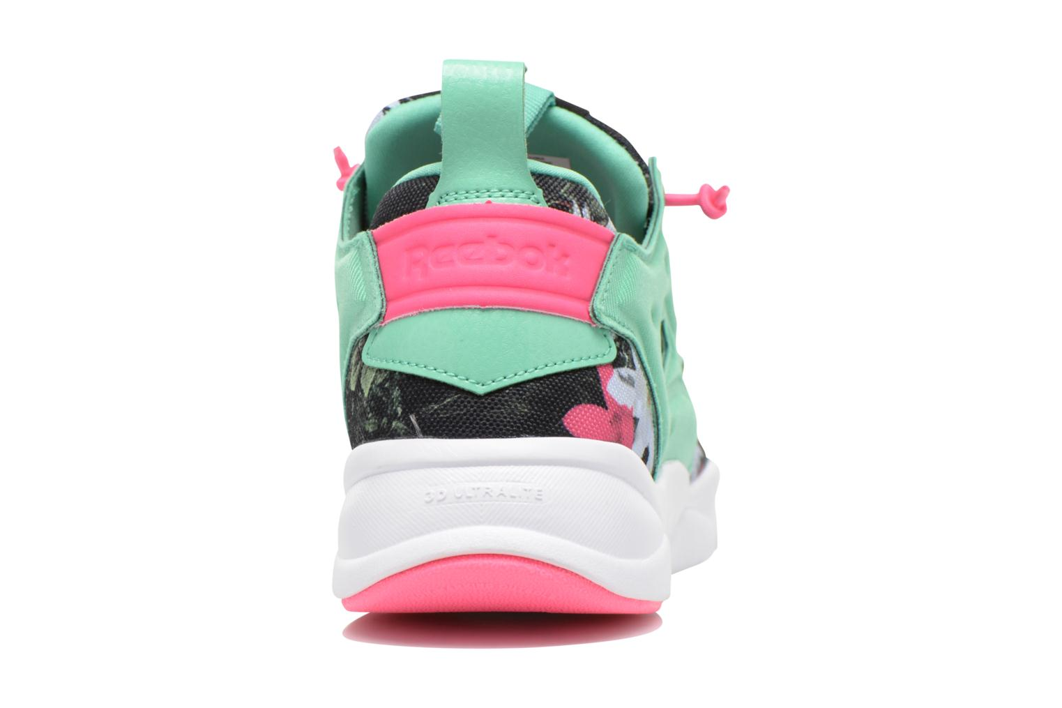 Trainers Reebok Furylite Graphic Green view from the right