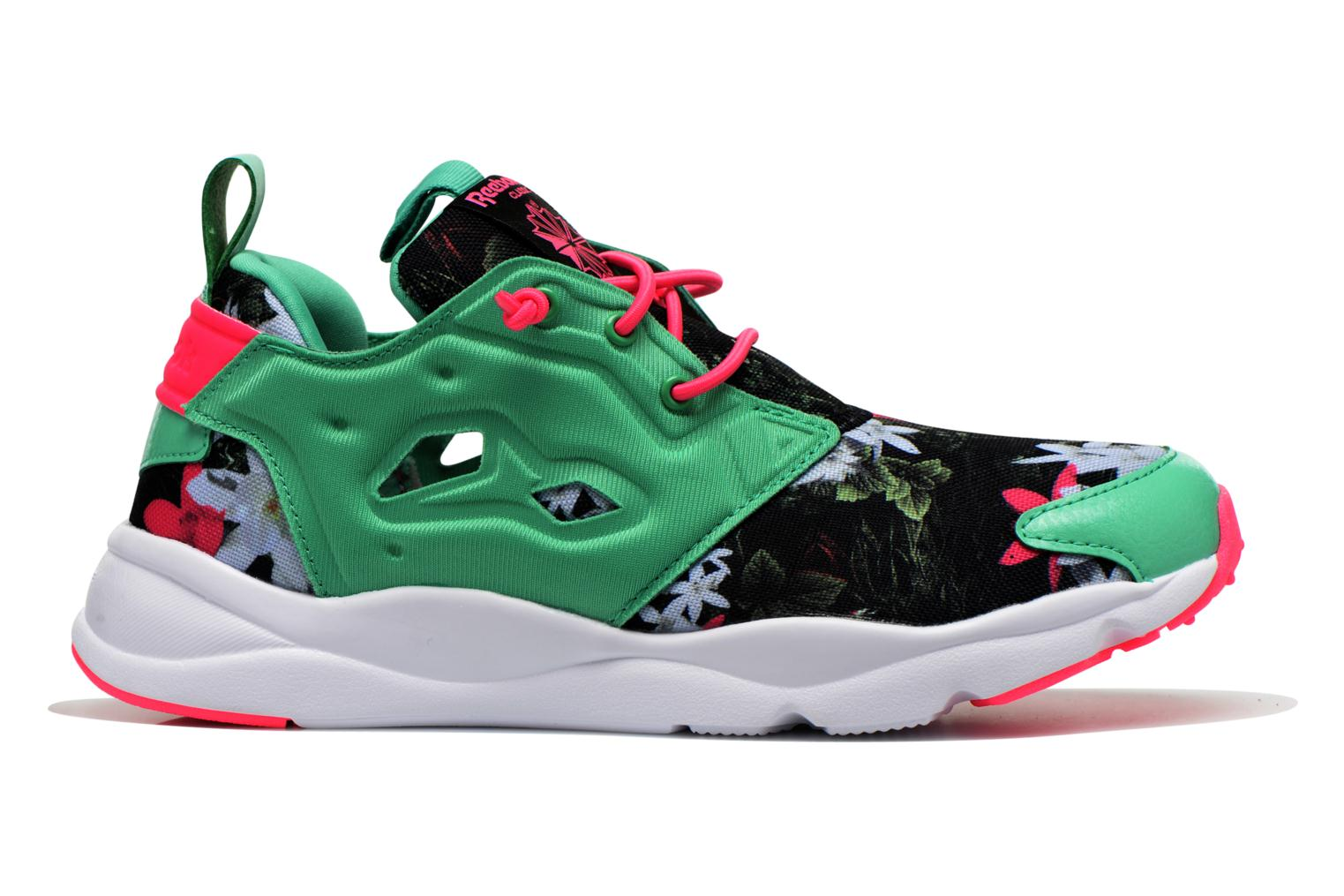 Trainers Reebok Furylite Graphic Green back view