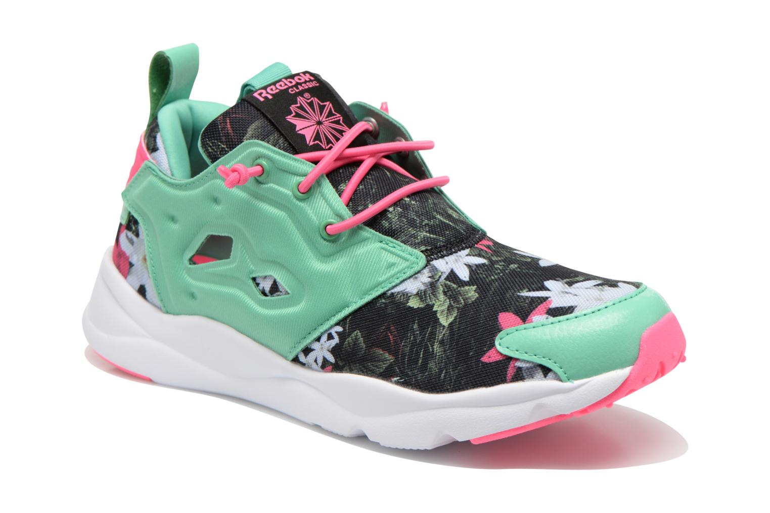 Trainers Reebok Furylite Graphic Green detailed view/ Pair view