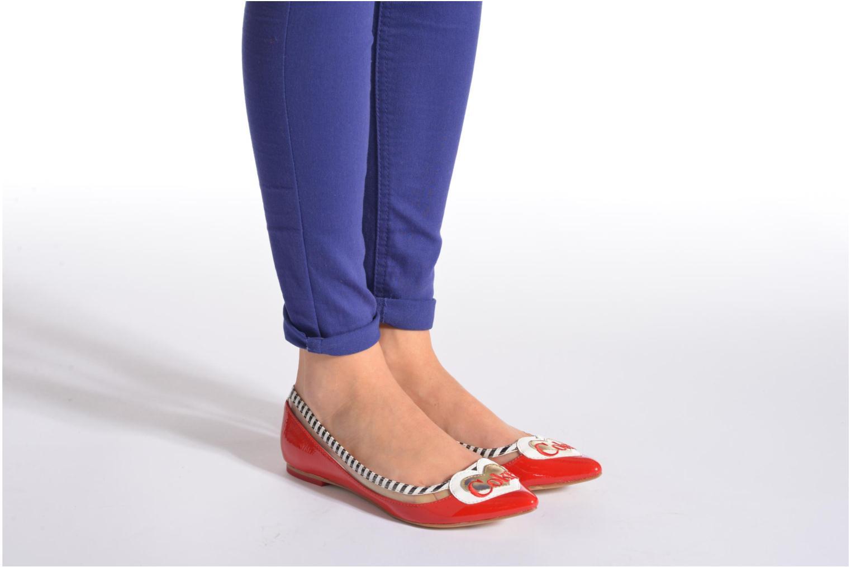 Ballerines Coca-cola shoes Heart Blanc vue bas / vue portée sac
