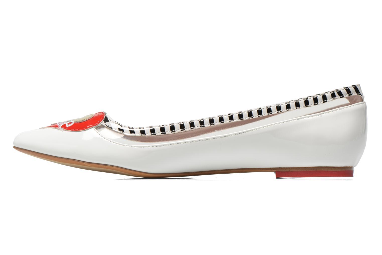 Ballerinas Coca-cola shoes Heart weiß ansicht von vorne