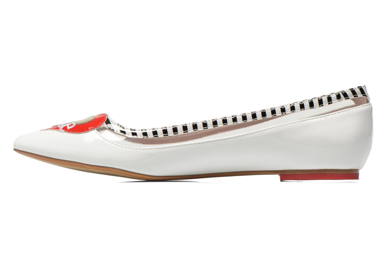 Ballerina's Coca-cola shoes Heart Wit voorkant