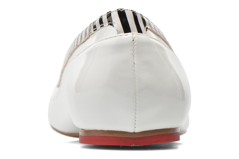 Ballerinas Coca-cola shoes Heart weiß ansicht von rechts