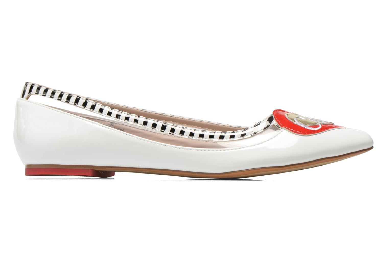 Ballerinas Coca-cola shoes Heart weiß ansicht von hinten