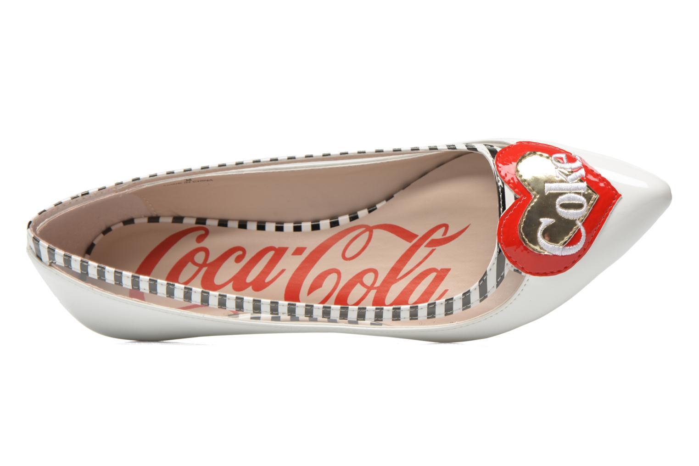 Ballerinas Coca-cola shoes Heart weiß ansicht von links