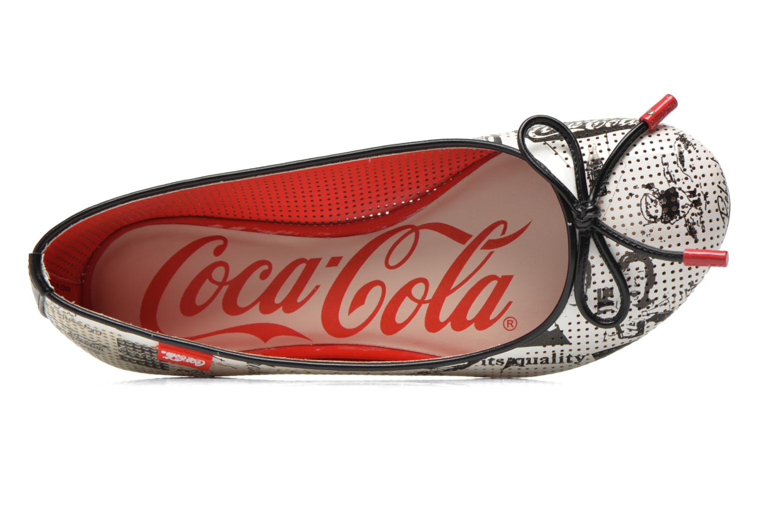 Ballerines Coca-cola shoes Paper Multicolore vue gauche