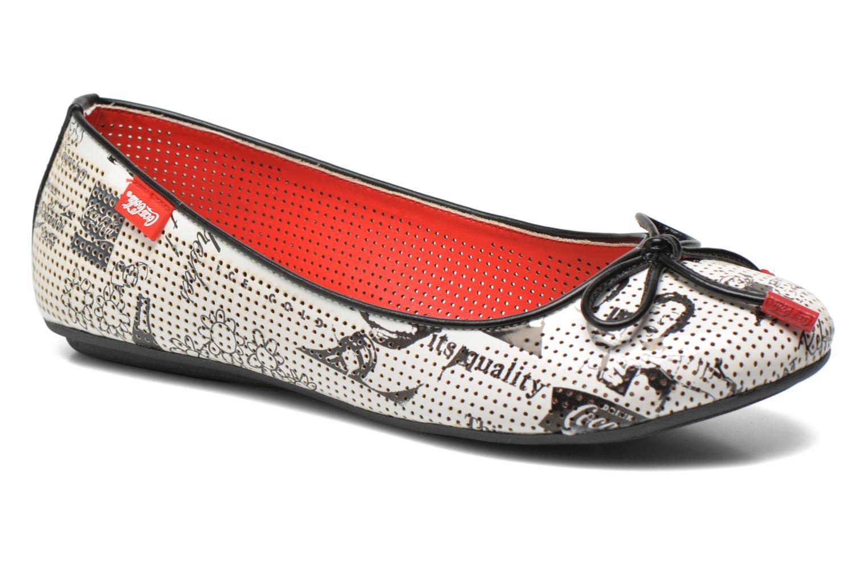 Ballerinaer Coca-cola shoes Paper Multi detaljeret billede af skoene