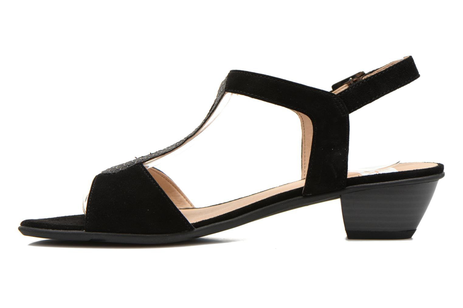 Sandals Sweet Chenel Black front view