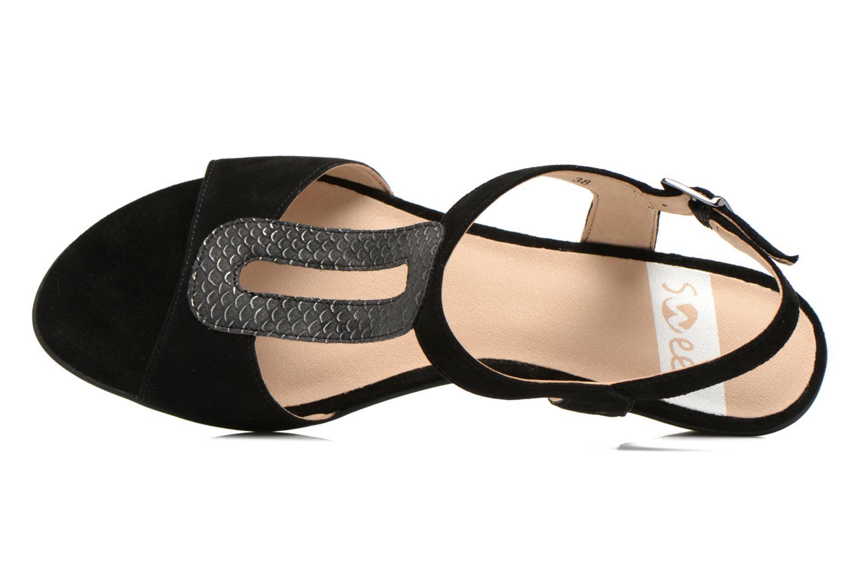 Sandales et nu-pieds Sweet Chenel Noir vue gauche