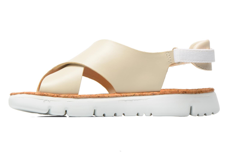 Sandals Camper Oruga K200157 Beige front view