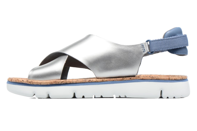 Sandalen Camper Oruga K200157 grau ansicht von vorne