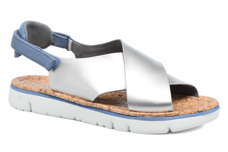 Sandales et nu-pieds Camper Oruga K200157 Gris vue détail/paire