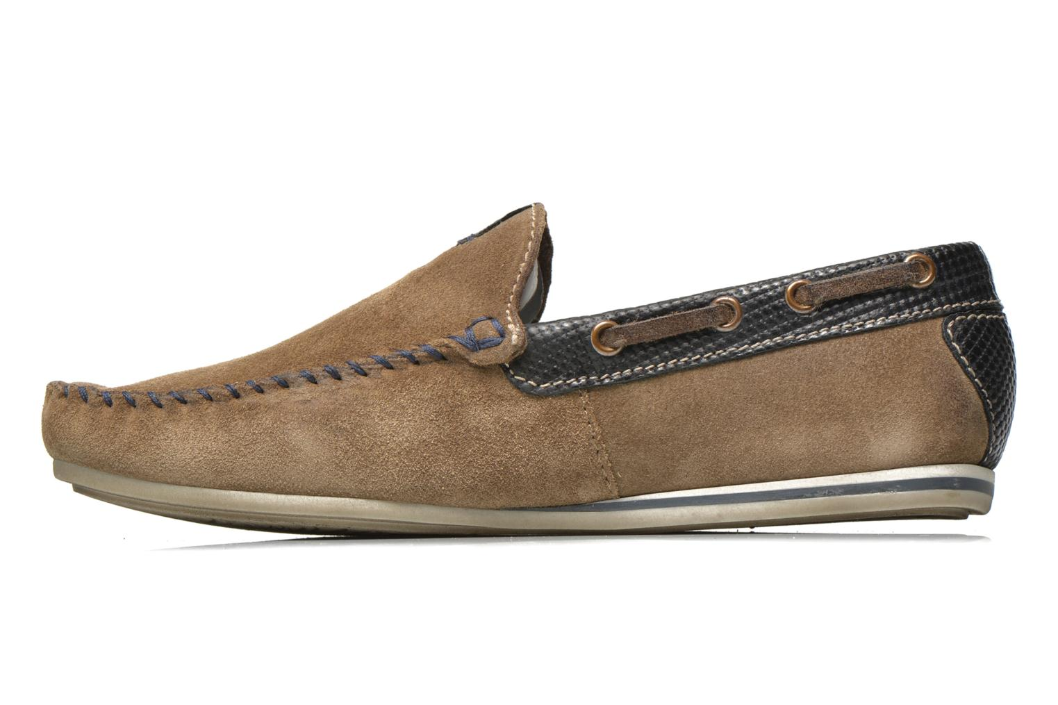 Loafers Bugatti Berokee Grey front view