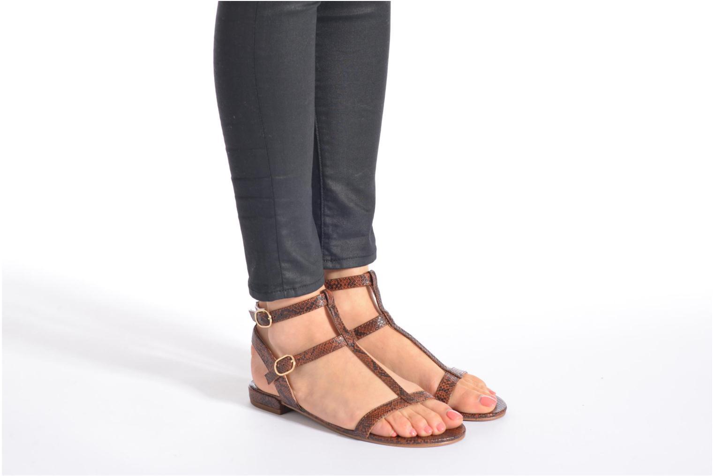 Sandales et nu-pieds Esprit Aely Bis Sandal Marron vue bas / vue portée sac