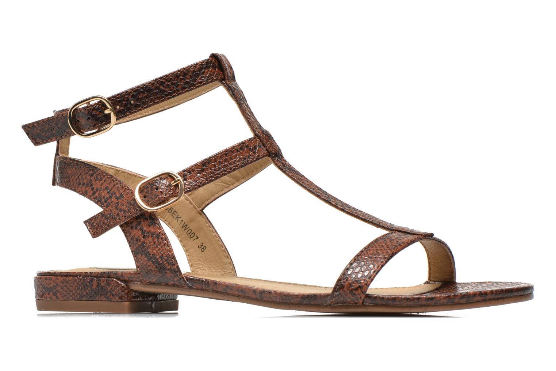 Sandales et nu-pieds Esprit Aely Bis Sandal Marron vue derrière