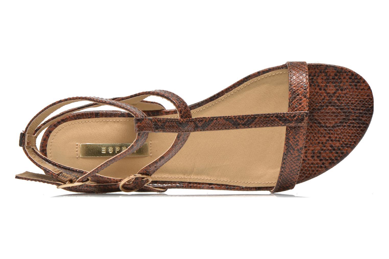 Sandales et nu-pieds Esprit Aely Bis Sandal Marron vue gauche