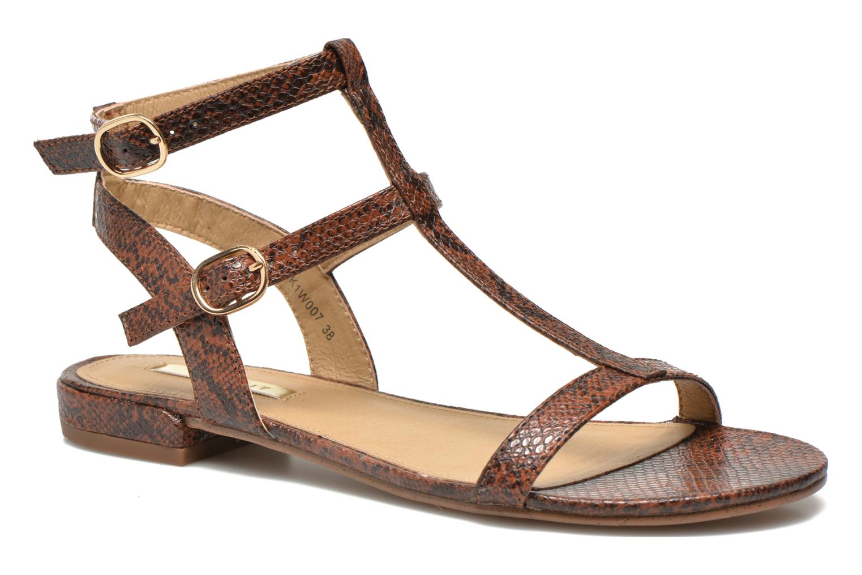 Sandals Esprit Aely Bis Sandal Brown detailed view/ Pair view
