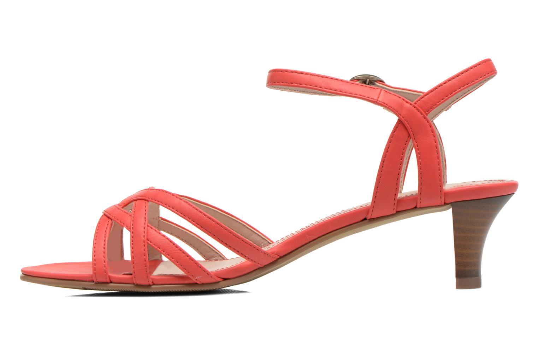 Sandalen Esprit Birkin Sandal rot ansicht von vorne