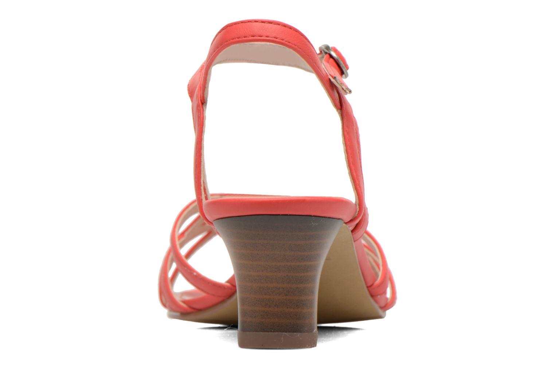 Sandalen Esprit Birkin Sandal rot ansicht von rechts