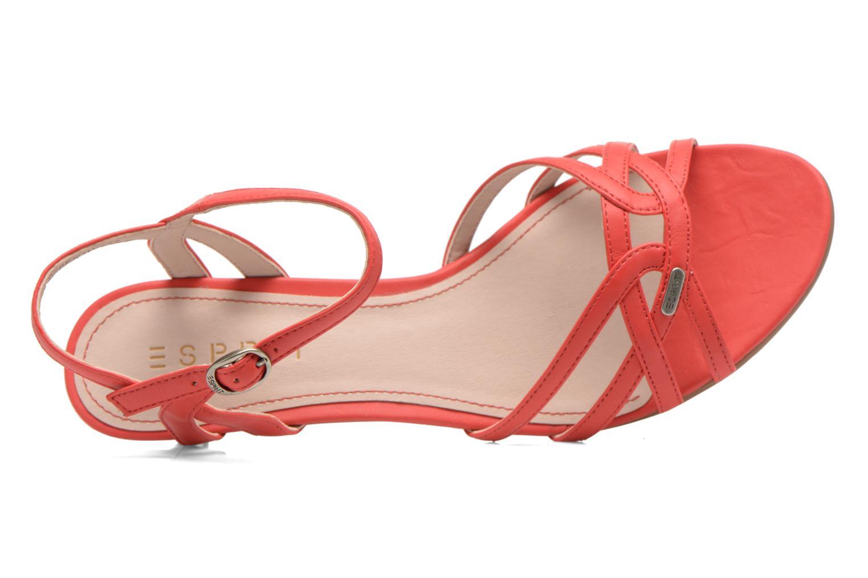 Sandales et nu-pieds Esprit Birkin Sandal Rouge vue gauche