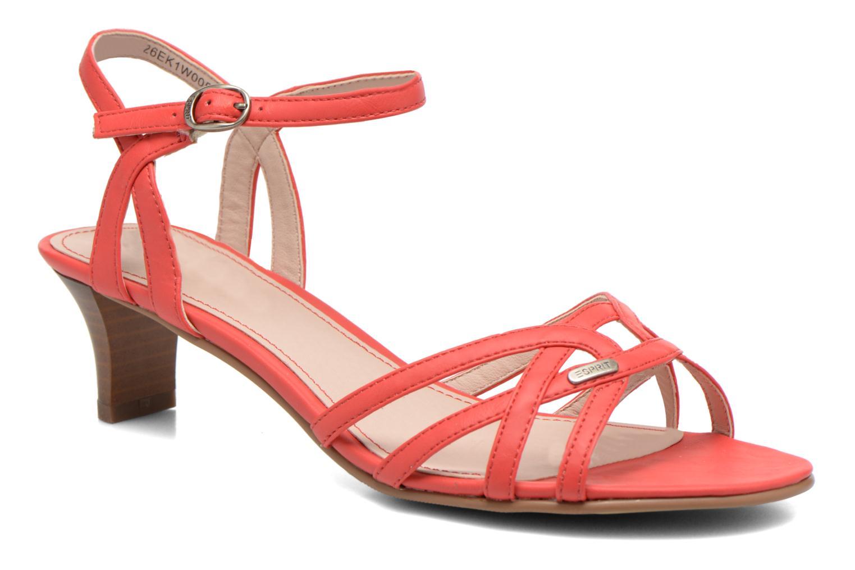 Sandales et nu-pieds Esprit Birkin Sandal Rouge vue détail/paire