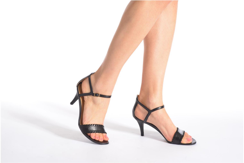 Sandales et nu-pieds Esprit Dor Bis Sandal Noir vue bas / vue portée sac