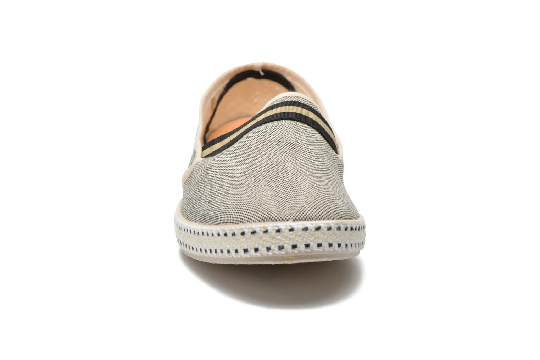 Mocassins Rivieras College Beige vue portées chaussures
