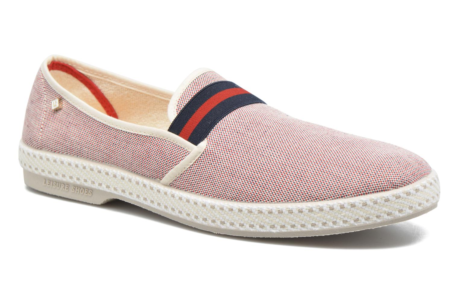 Loafers Rivieras College Red detailed view/ Pair view