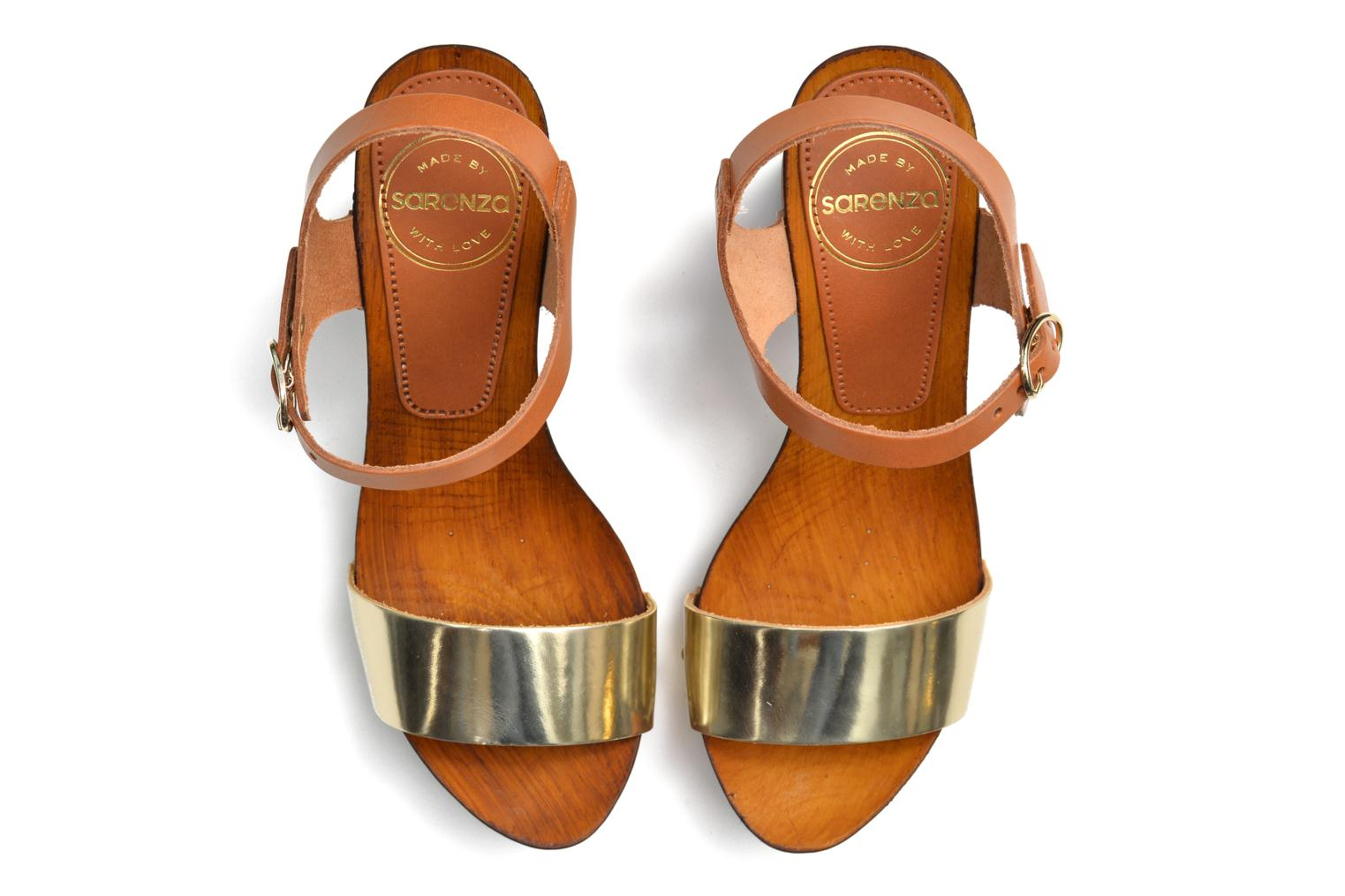 Sandals Made by SARENZA Discow Girl #8 Brown view from above