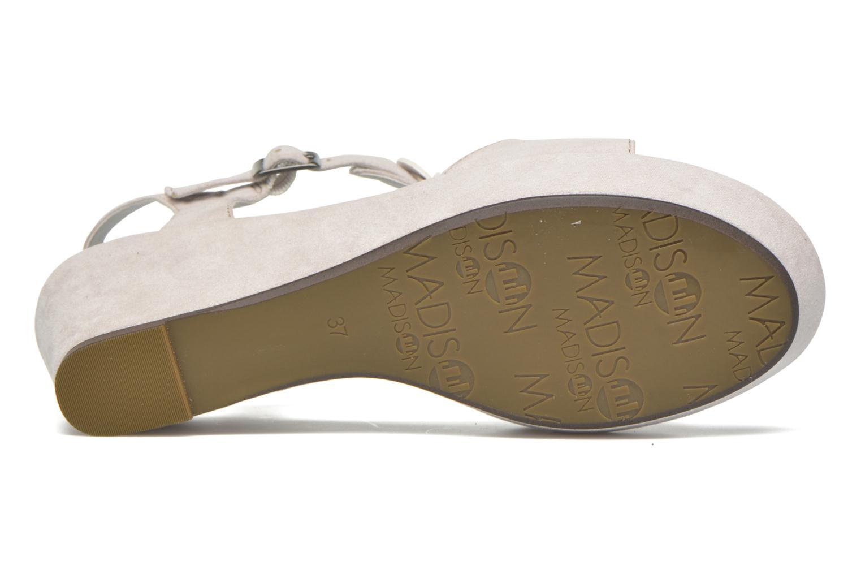 Sandales et nu-pieds Madison Estreme Blanc vue haut