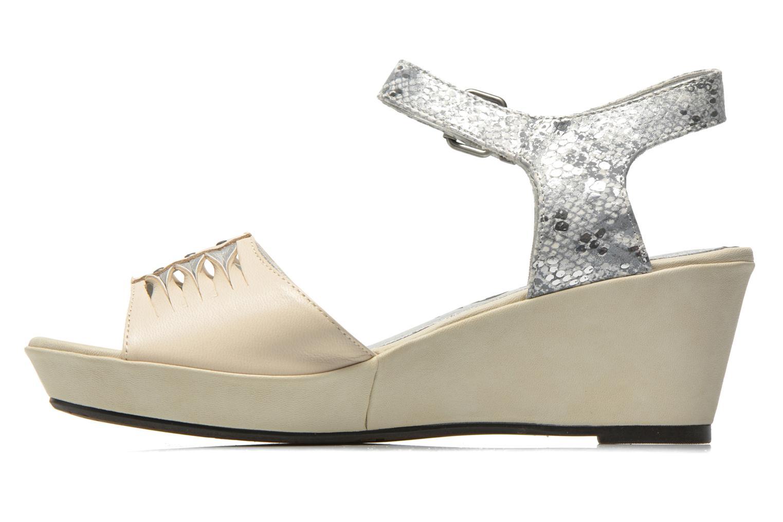 Sandales et nu-pieds Madison Esclin Beige vue face